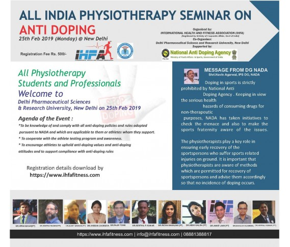 All India Physiotherapy Seminar on Anti Doping at New Delhi